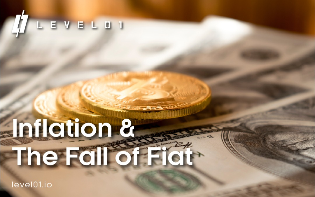 Compaing Fiat Currency to DeFi Level01 Logo and blog