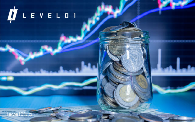 Jar of coins for level01 defi platform