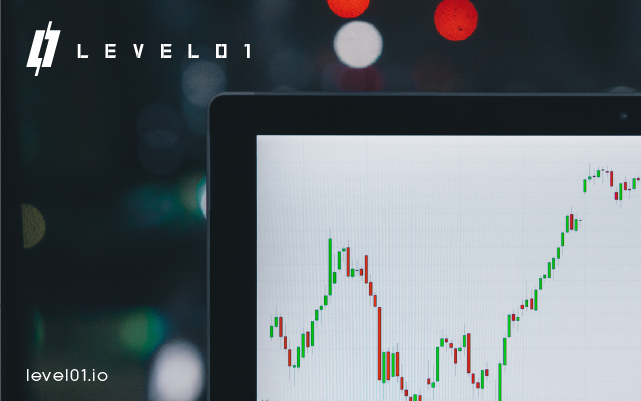 Candlestick charts for binary options trading on Level01 Defi platform
