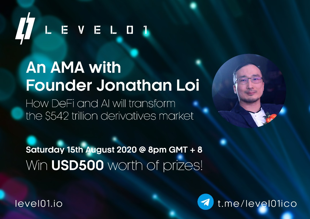 Announcement for AMA with Jon Loi Level01 DeFi Platform