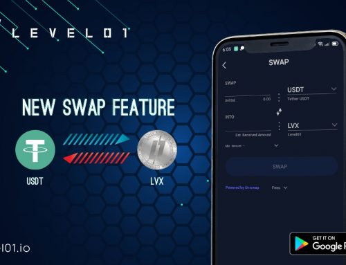 Level01 App New Swap Feature (USDT x LVX)